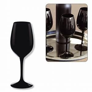 Verre A Vin Noir : verre a vin noir pas cher ~ Teatrodelosmanantiales.com Idées de Décoration