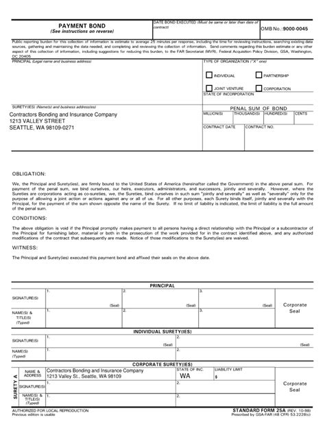 Gsa Form 25a - Fill Online, Printable, Fillable, Blank