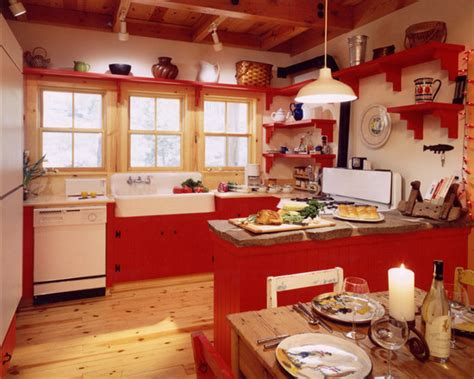 perfect red country kitchen cabinet design ideas for red and white country kitchen home decorating ideas