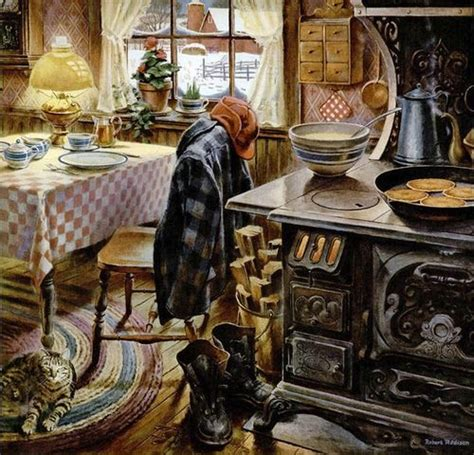 pics of painted kitchen cabinets norman rockwell granma granpa s farm house kitchen 7433