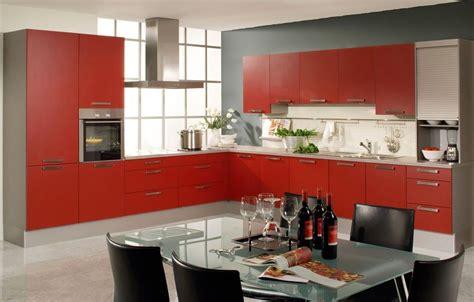 cocinas en color rojo gris  blanco colores en casa