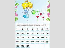 Imágenes de Calendarios Infantiles de Mayo 2016 para