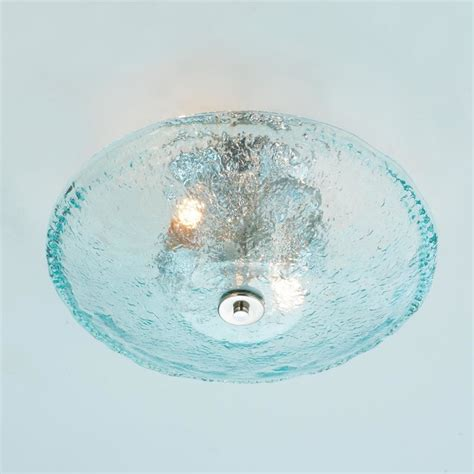 recycled bottle glass bowl ceiling light style