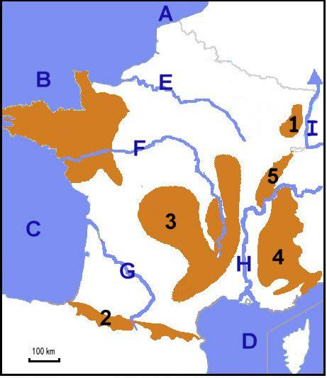 Carte De Fleuves Et Montagnes Vierge by La Savoir Placer Les Montagnes Les Mers Et Les