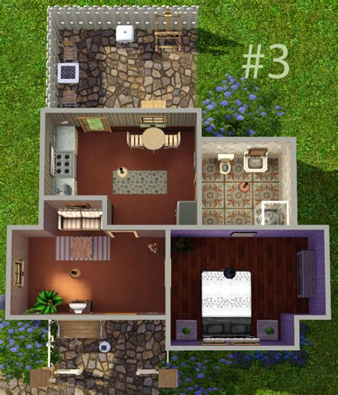 Sims 3 Legacy House Floor Plan by Mod The Sims Sally Set Of 3 Starter Homes 167 16 000