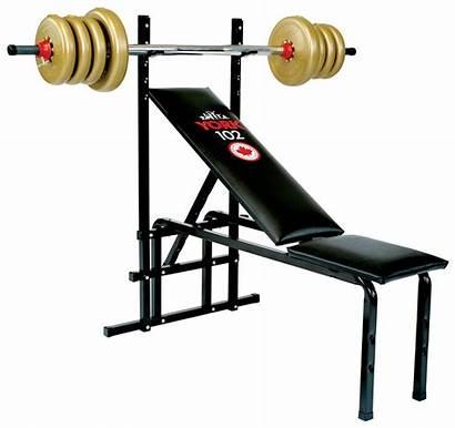 Bench Barbell York Adjustable Press Weight Machine