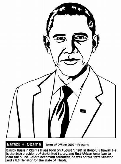 Coloring History Month Pages Obama Barack