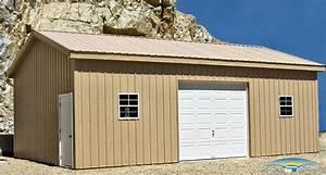 1 car prefab garage horizon structures With 20x30 garage kits