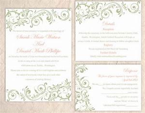 diy wedding invitation template set editable word file With diy wedding invitations printing templates