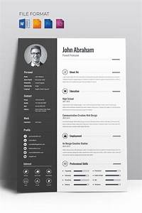 Creative Cv Layout Minimal Creative Cv Resume Template 67714 Graphic