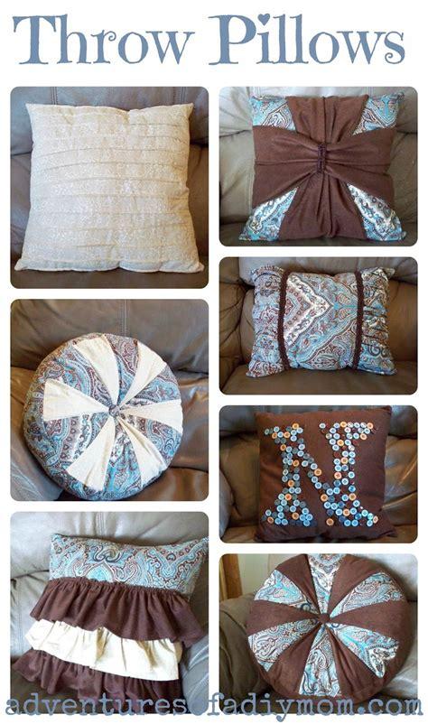 easy throw pillows adventures   diy mom