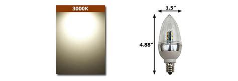 2 or 5 watt 12v low voltage led e12 base candelabra