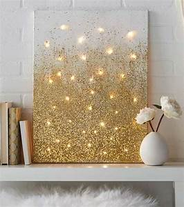25 best ideas about gold home decor on pinterest gold for Best brand of paint for kitchen cabinets with lighted christmas canvas wall art