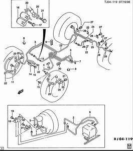 Trying To Find Brake Line Diagram For 1997 Chevy S10 Pick Up