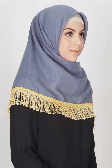 sell khansa square grey hijab essential hijabenkacom