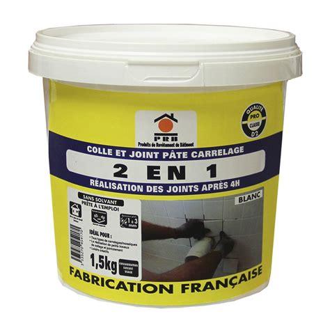 colle a carrelage exterieur colle et joint 2 en 1 pour carrelage mur 1 5 kg blanc leroy merlin