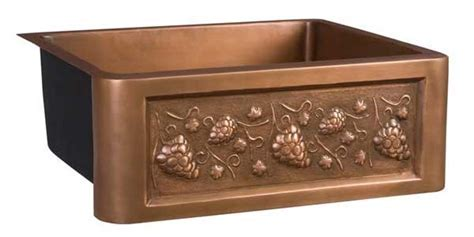 Deluxe Copper Kitchen Sinks with Single and Double Bowls