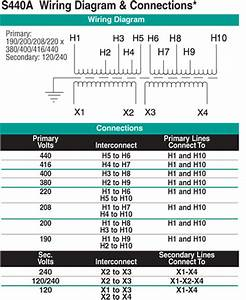 10 Kva Transformer Primary 190  200  208  220 X 380  400  416