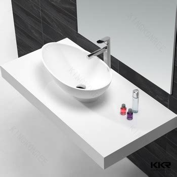small countertop basin solid surface washing sink small oval shape
