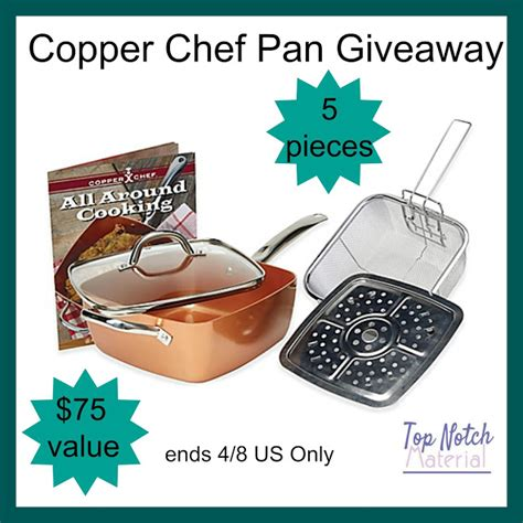 top notch material copper chef pan giveaway
