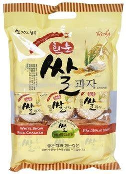 richy white snow rice cracker sweet taste bag 315g buy