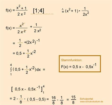integral berechnen  abituraufgaben mathematik