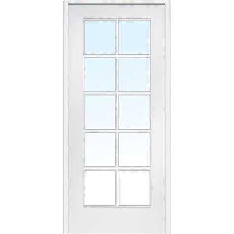 mmi door 31 5 in x 81 75 in clear glass 10 lite interior door z009303r the