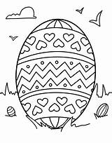 Coloring Easter Template Egg Printable Pages Third Could Nice sketch template