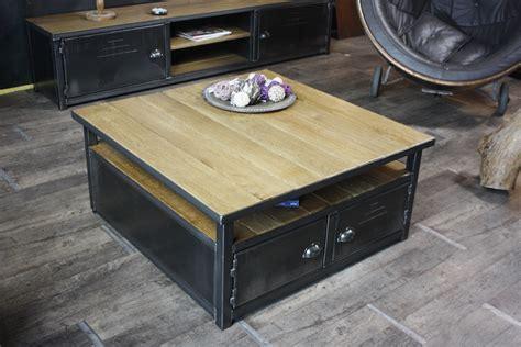caisson basse sous siege table basse caisson bois métal sur mesure micheli design