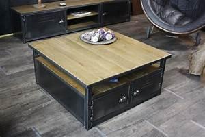 Table Basse Bois Industriel : table basse look industriel le bois chez vous ~ Teatrodelosmanantiales.com Idées de Décoration