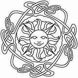 Coloring Litha Wheel Pagan Solstice Urban Wiccan Embroidery Threads Mandala Colouring Imbolc Urbanthreads Crafts Sheets Adult Sun Wicca Awesome Unique sketch template