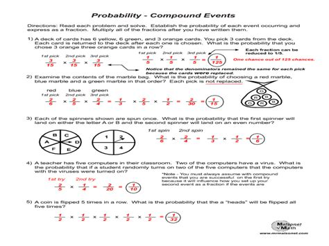 probability review worksheet 7th grade 1000 images about
