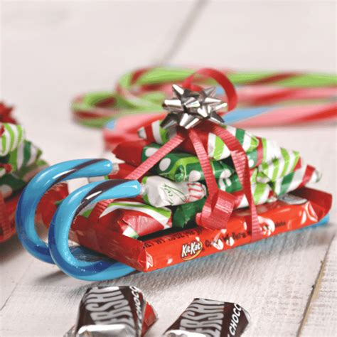 candy cane skeigh xmas craft easy sleighs with bars princess