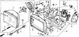 Honda Scooter 1986 Oem Parts Diagram For Headlight