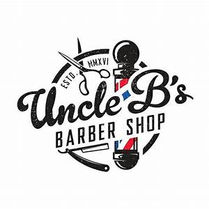 Logo concept for Uncle B's Barber Shop. | Logo design ...