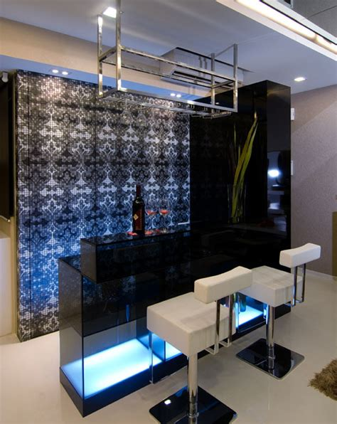 Modern Bar Ideas by Modern Home Bar Blue Lighting Ideas Interior Design