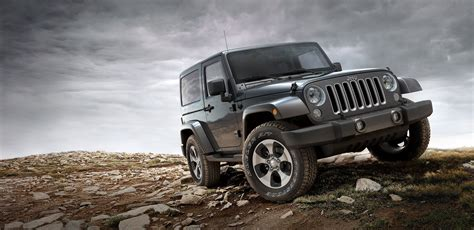 2019 Jeep Scrambler Black Color On Hill 4k Wide Hd
