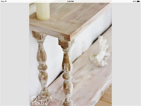 white washed table ls white washed sofa table with reclaimed balusters