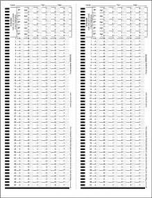 Test Answer Sheets Printable