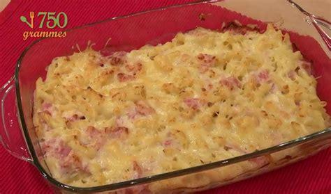 recette gratin de pates au jambon en video