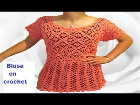 blusa a crochet paso a paso tejido facil parte 2 youtube