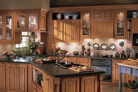 honey colored kitchen cabinets   Oak Cupboards   Palm