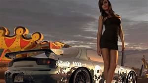 Hot Girl Standing Next To Sport Car Wallpaper for Desktop ...