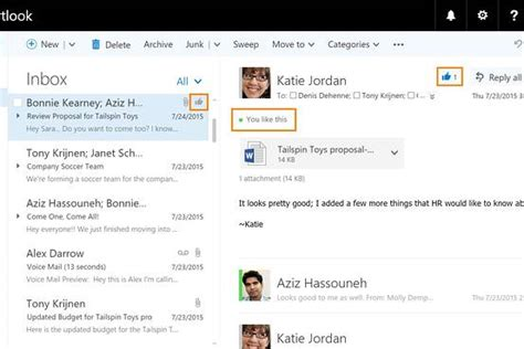 si鑒e social microsoft microsoft to let users like favourite emails adelaide now