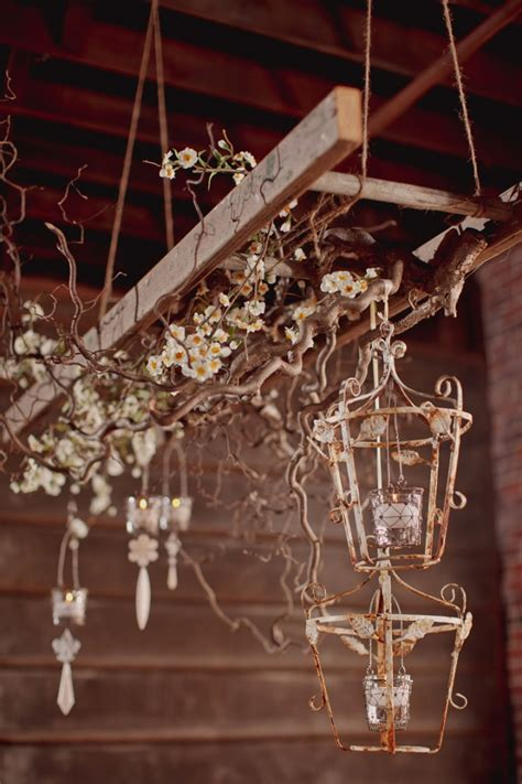 Candle Chandeliers For Cool Ceiling Decorating Ideas Via Homeandgarden 1 by Vintage Wedding Ideas Tulle Chantilly Wedding