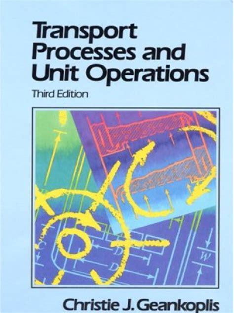 transport processes  unit operations geankoplispdf