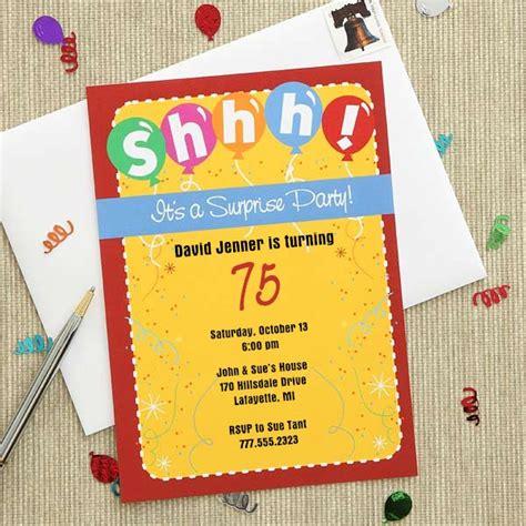 Lorful Surprise Party Invitations  Ee  Th Ee    Ee  Birthday Ee    Ee  Ideas Ee