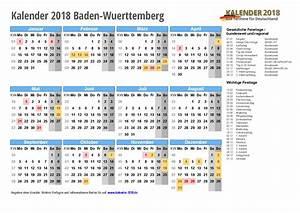 Kalender 2018 BadenWürttemberg zum Ausdrucken « KALENDER 2018