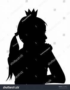 Princess Silhouette Vector Stock Vector 337648622 ...