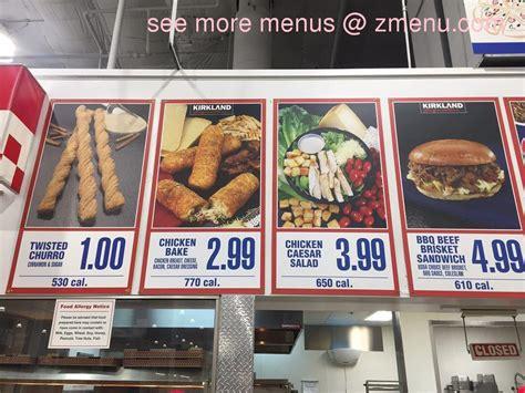 Online Menu of Costco Food Court Restaurant, Foster City ...